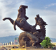 New products brass chinese dragon and horse vigour statue on China market