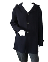 Woolen Type And Men's Overcoat With Hood