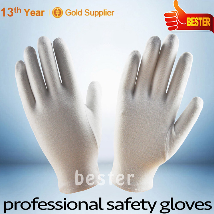 INSPECTION usage customized China ladies white cotton gloves