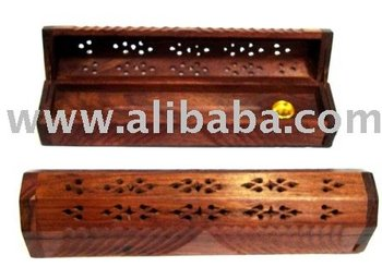 Carved Sesam Wood Agarbatti Box