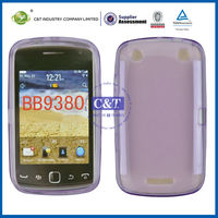 C&T TPU soft back cover case for blackberry curve 9380
