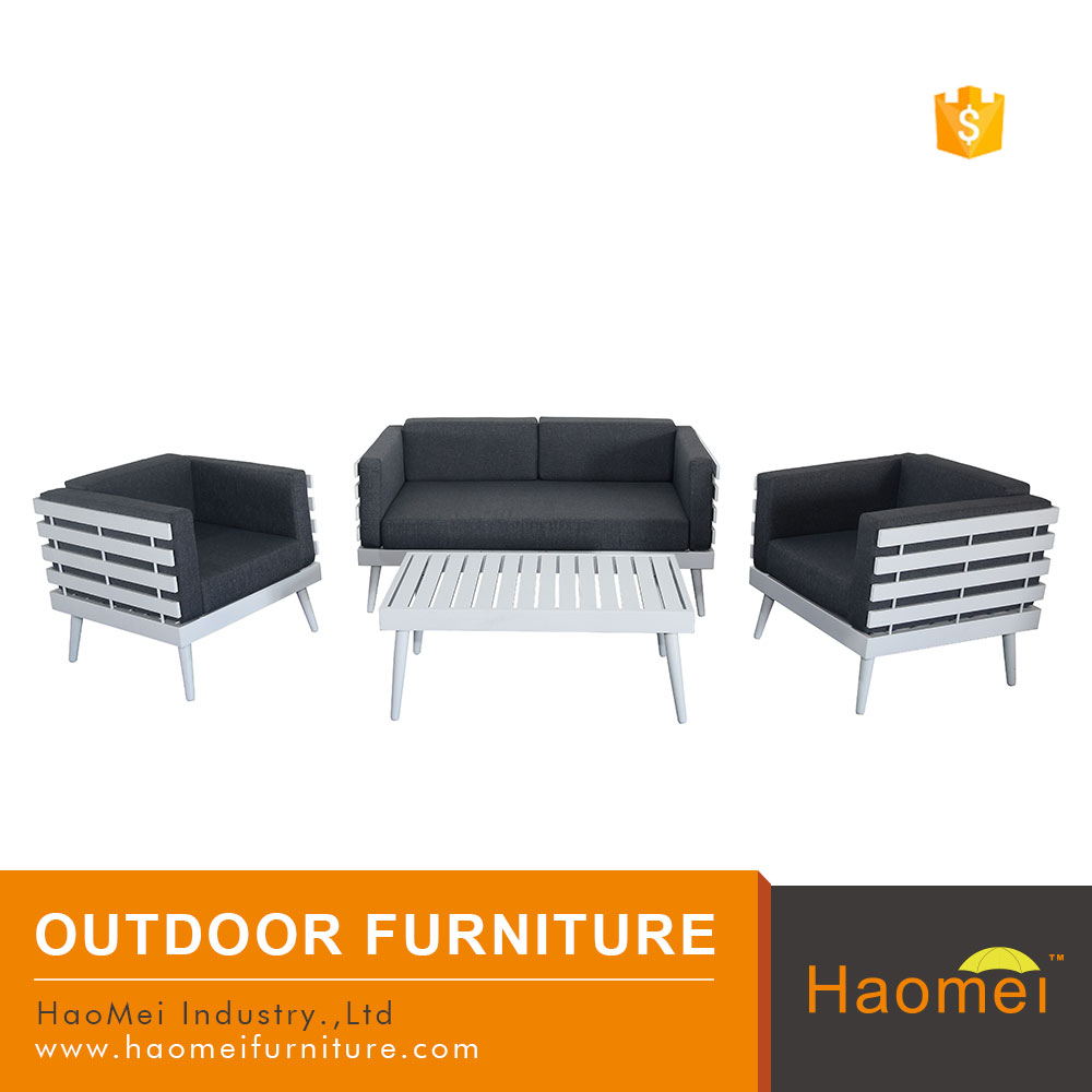 stylish urban good quality 4 pcs outdoor powder coated aluminum frame sofa set