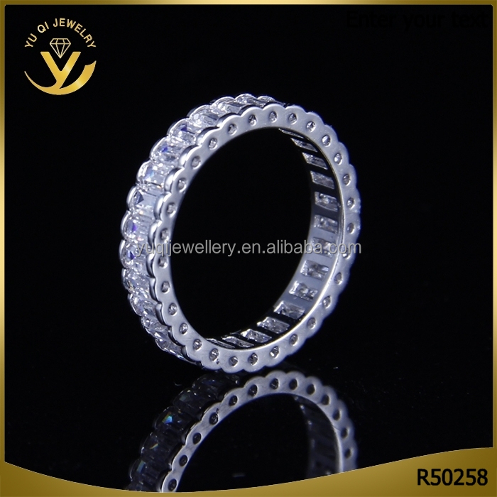 2016 Latest costume jewelry 925 sterling sliver AAA zircon wedding rings designs for lady