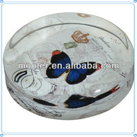 Butterfly Glass Round Paper Weight for Holiday Gifts