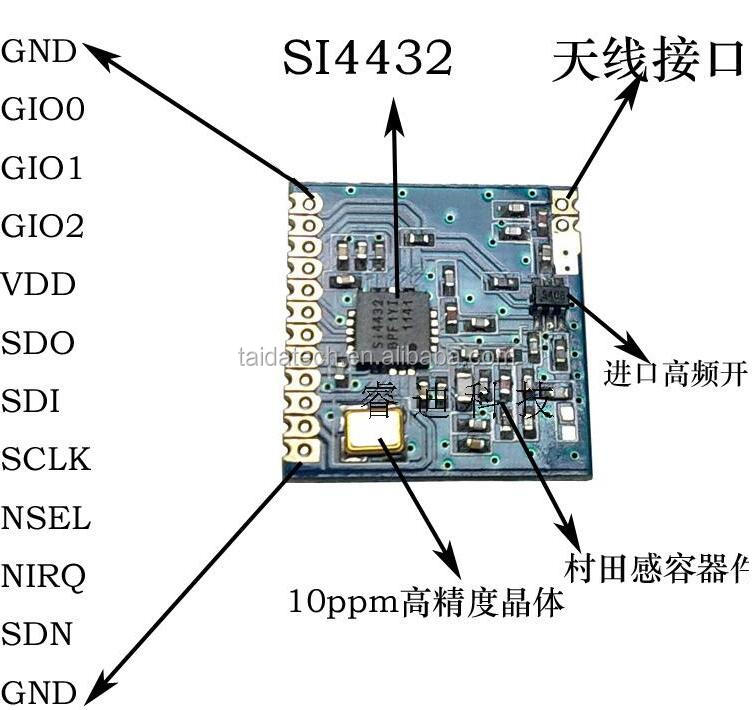 Supply Ultra-small <strong>1000</strong> m Wireless Module Long Range Wireless Transceiver Module SI4432