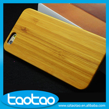 High quality light wood cover for iphone 6, mobile phone wooden bamboo PC cover case for iphone 6