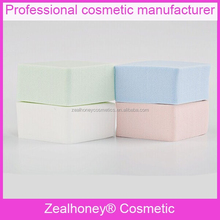 Skin care 100% natural magic cleaning sponge square blue Green water absorb sponge Pink & white synthenic sponge
