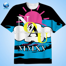 2016 Wholesale stylish OEM adults 100% polyester moisture wicking sublimation round neck t shirt&3D t-shirt