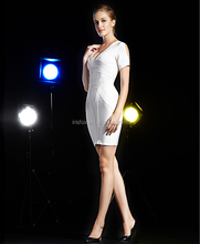 short sleeve white color mother of the groom dresses