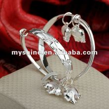 Myshine Charming friendship newborn silver baby bracelets jewelry