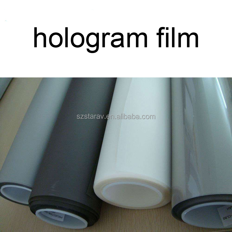 3D Holographic Projection Film Rear Adhesive Projector Screen