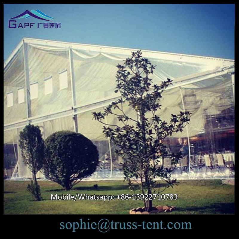 White color outdoor waterproof wedding tent with church windows