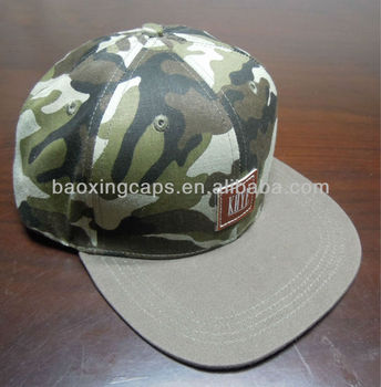 customizable camo snapback cap