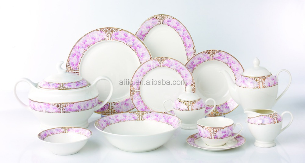 47pcs Luxury Bone China Dinner Set Dinnerware