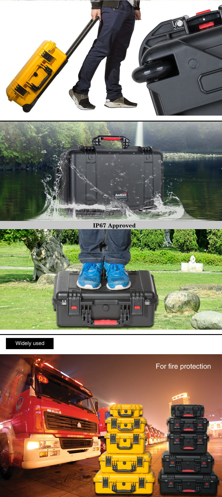 waterproof Plastic Portable tool case