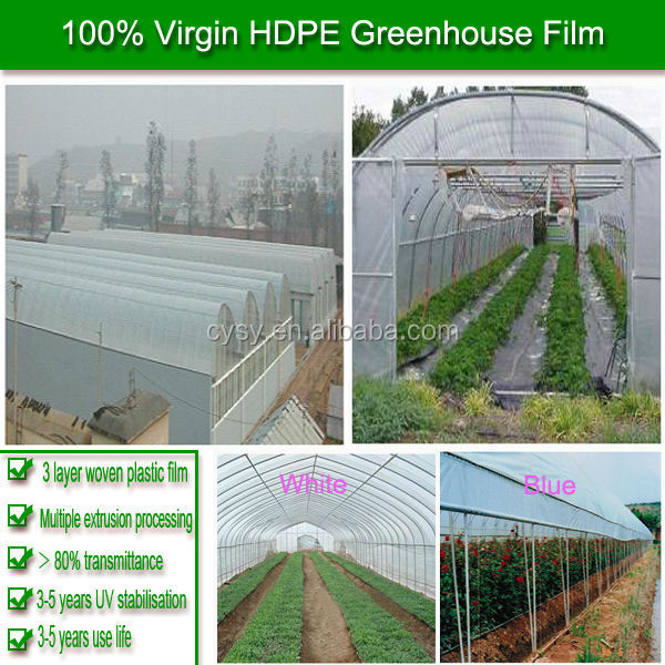 100% new material greenhouse used plastic film in roll,200 micron greenhouse film,garden used greenhouse film
