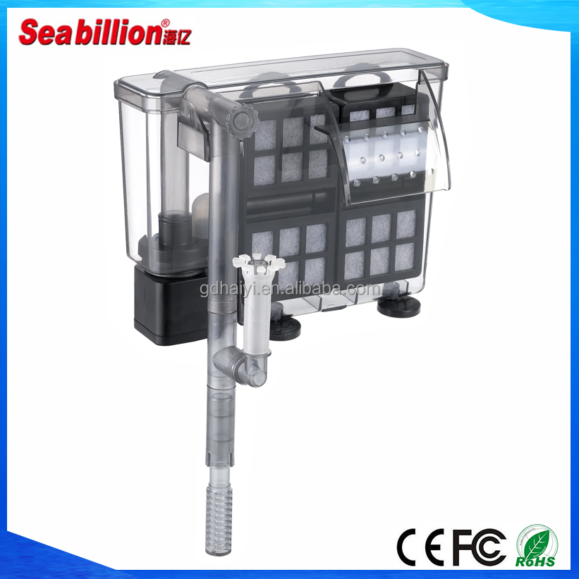 Seabillion HS-1043 two cases of activated carbon and filter cotton aquarium external water filter with oil film accumulator