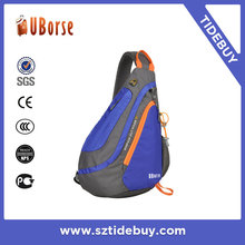 Customize man fashion outdoor sports leisure warterproof oxford bag shoulder chest sling pack