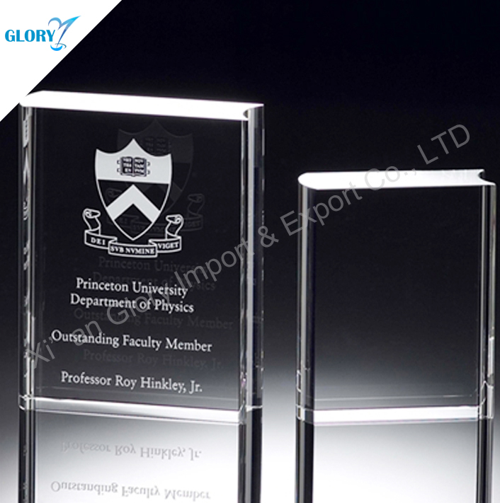 Top Engraved Book Shape Crystal Blanks