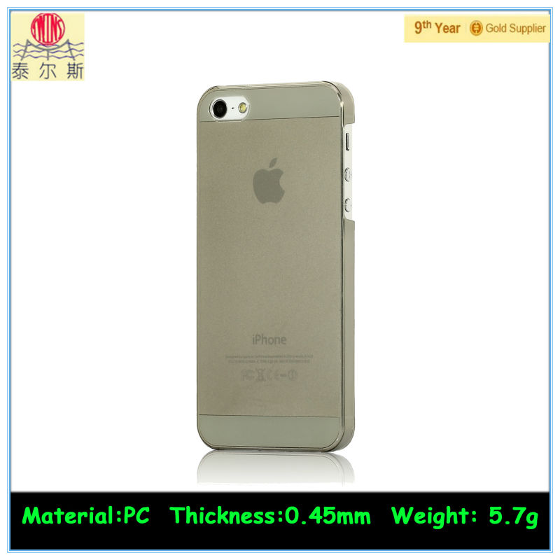 0.5mm clear pc phone case for apple iphone 5