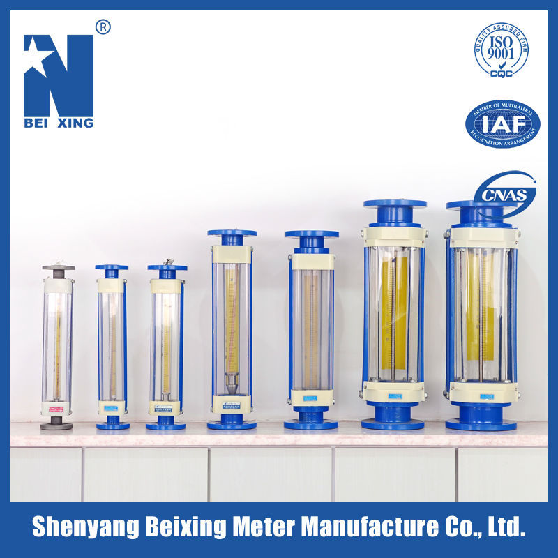 Beixing Meter LZBS Glass tube flange connection flow measurement and instrumentation