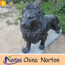 outdoor antique stone winged lion statue lion sculpture NTBM-E274S