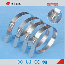 Stainless Steel Material and Self - Locking Type Stainless Steel Strap / Metal Cable Ties