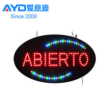 Ali Express wholesale low price Spanish acrylic led abierto letter sign board