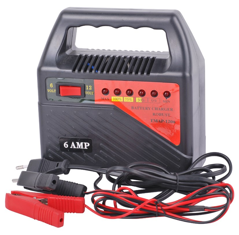 Portable 12v battery charger for car