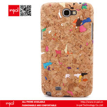 eco friendly funky design PC cork fabric cell phone sleeve for samsung galaxy note 2