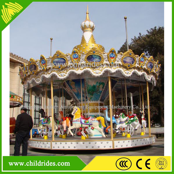 Amusement park toy carousel, kids carousel horse rides, carrousel for sale