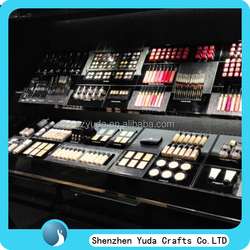 Newest design makeup organizer for sale, unique made luxury cosmetic exhibition storage showcase