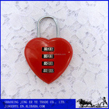Lovely Red Heart Combination Padlock