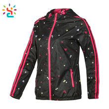 Bling sports girls fashion 3m motorcycle reflective running jacket Adjustable Reflective Class 3 Hooded Sweatshirt