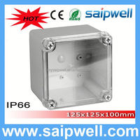 2014 saipwell High quality 125*125*100MM waterproof electrical junction boxes with Transparent Cover
