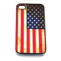 Fashion cheap USA flag design 4/4S PU Mobile Phone Cover