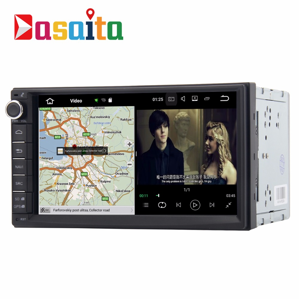 "DASAITA Android 7.1 7"" car 2 din universal stereo dvd <strong>player</strong> with Bluetooth WIFI GPS Navigation 1+16GB"
