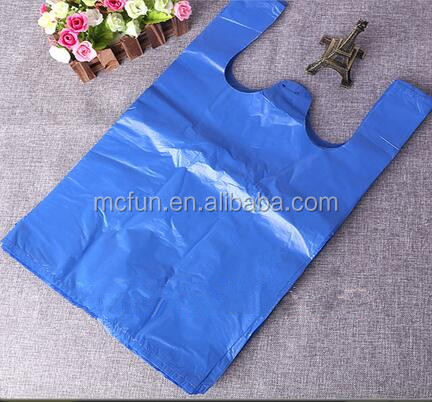 T shirt plastic bag Alibaba Supplier Customized Wholesale Reusable T shirt Plastic Shopping Bags