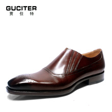 Custom handmade slip-on shoes business suits Goodyear welted mens shoe dress loafer Short tube low shoes