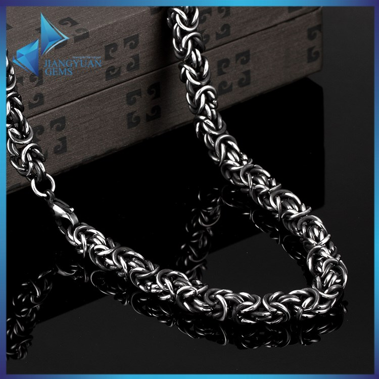 Latest 316 stainless steel mens gun black plating chain necklace