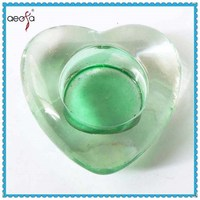 lead free high quality heart shape glass candle holder manufacturer
