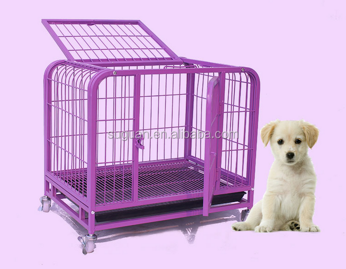 Wholesale Cheap High Quality Pet Kennel Metal Outdoor Large Dog Cages With Wheels