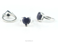 Mix Lots Silver Fashion Ring With Blue Sandstone Ring China Supplier