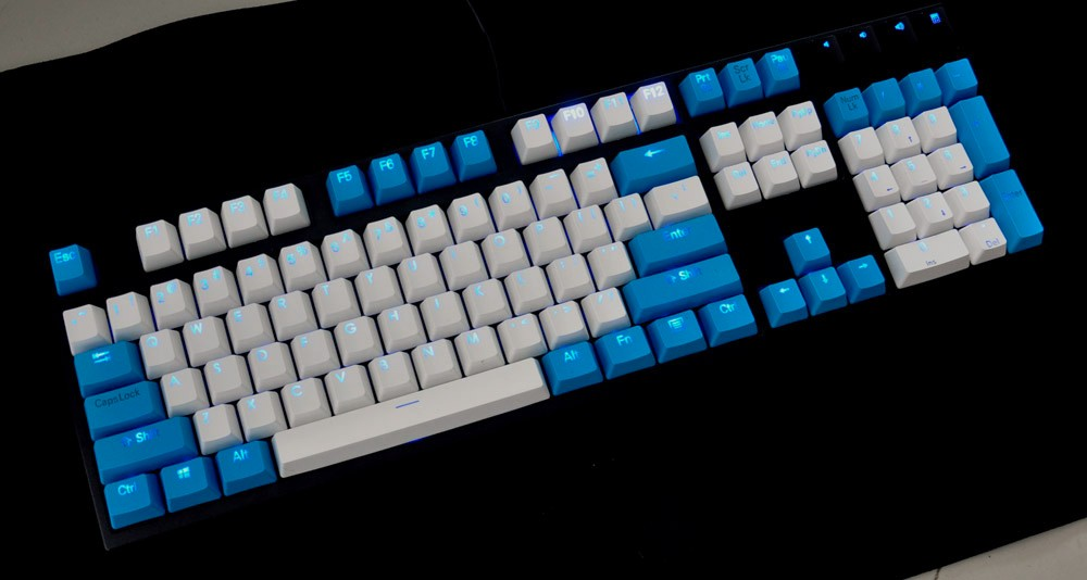 104keys or 108keys PBT double shot/double injection mechanical backlight keycap