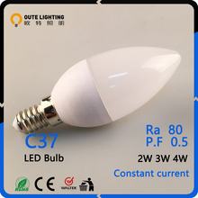 Energy Saving 2W 3W 4W E27 C37 High Quality Led Light Bulb