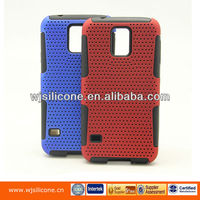 Silicone and PC cell phone cover case for samsung galaxy S5