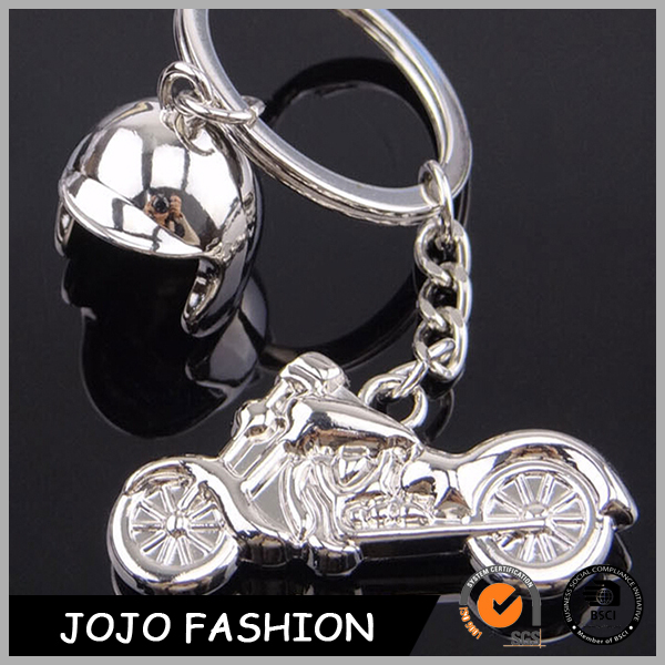 Promotion gifts custom mini metal motorcycle helmet 3D keychain