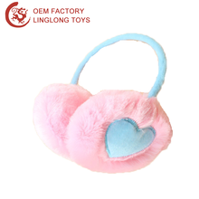 Winter Plush Earphone Earmuff Kids Faux Fur Winter Ear Muffs Women Pink Warm Fur Earmuffs