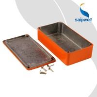 SAIP/SAIPWELL Orange Rectangle Musical Instrument Effector Aluminium Case