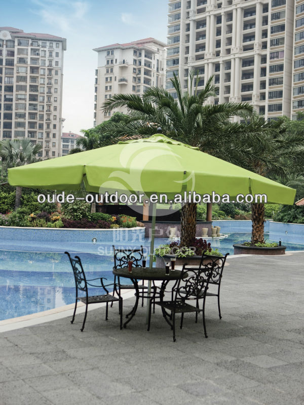 large outdoor metal umbrella for restaurant